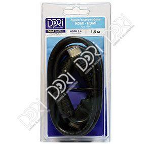 1964-1 DORI шнур HDMI-HDMI L=1,5m угловой