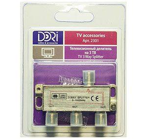 2301 Разветвитель на 3 TV (5-1000MHz) на F