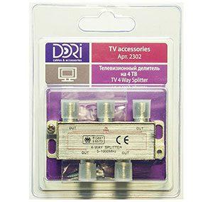 2302 Разветвитель на 4 TV (5-1000MHz) на F