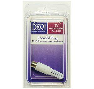 2322 Антенный штекер (пластик) белый 1 шт.