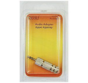 2351 Переходник Plug 3,5(шт) на Jack 6,3(гн) стерео (Nickel)