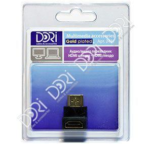 2431 Переходник HDMI штекер — HDMI гнездо угловой