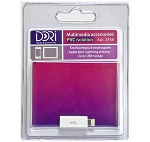 2458 Компьютерный переходник Apple 8pin шт. — micro USB гн.
