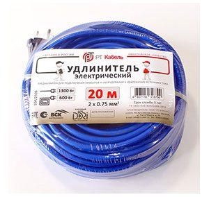 Садовый удлинитель-шнур РТ-Кабель 2×0,75 10 м