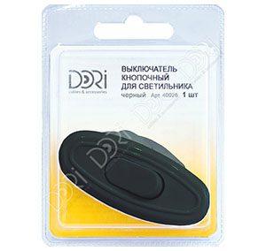 40026 Выключатель кнопочный для светильника (черный)