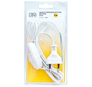 40057 Шнур с выключателем для светильника (белый)