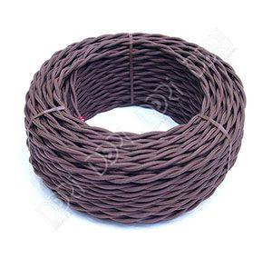 Витой ретро-провод 2х1.5 мм2 (коричневый)