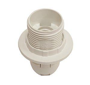 45250 Патрон Е14 с кольцом (термостойкий пластик, белый)