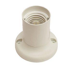 45823 Патрон E27 потолочный, прямой (термостойкий пластик, белый)